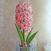 Цветы и флористика ручной работы. Ярмарка Мастеров - ручная работа Цветок из Холодного Фарфора Нежно-розовый гиацинт. Handmade.