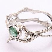 Украшения handmade. Livemaster - original item Ring of silver branches with green tourmaline. Handmade.