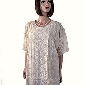 Одежда handmade. Livemaster - original item Long elegant evening dress with lace