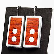 Украшения ручной работы. Ярмарка Мастеров - ручная работа Серьги из дерева и металла PANWOODS Salmon R2. Handmade.