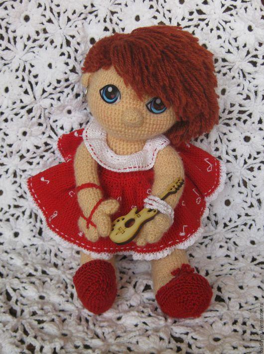 Человечки ручной работы. Ярмарка Мастеров - ручная работа. Купить Вязаная кукла Маша. Handmade. Вязаная кукла, для детей, для ребенка