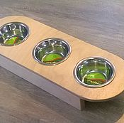 Для домашних животных, handmade. Livemaster - original item Stand for three bowls. Handmade.