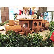 Игрушки-каталки ручной работы. Ярмарка Мастеров - ручная работа Детская игрушка из дерева «Поезд». Handmade.