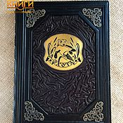 Сувениры и подарки handmade. Livemaster - original item Gifts for hunters and fishermen: Leather-bound HUNTING. Handmade.