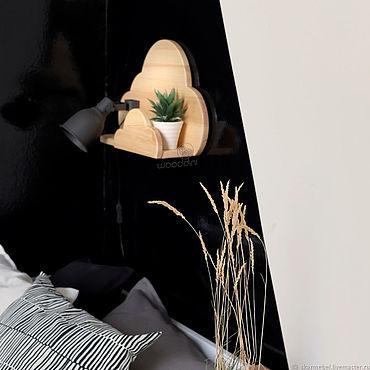 Мебель ручной работы. Ярмарка Мастеров - ручная работа Полочка Облако из массива дерева. Handmade.