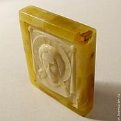 Icons handmade. Livemaster - original item Spas not man-made amber, R-014. Handmade.
