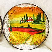 """Посуда ручной работы. Ярмарка Мастеров - ручная работа Тарелка """"Тосканский полдень"""". Handmade."""