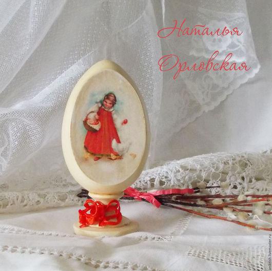 Подарки на Пасху ручной работы. Ярмарка Мастеров - ручная работа. Купить Яйцо пасхальное сувенироное. Handmade. Ярко-красный
