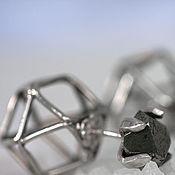 Украшения handmade. Livemaster - original item Dual transformers earrings – Geometric earrings with faceted pyrite. Handmade.