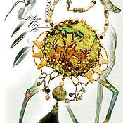 Украшения ручной работы. Ярмарка Мастеров - ручная работа Африканская антилопа колье вышивка бисером африканское сафари. Handmade.