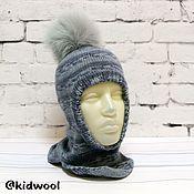 Аксессуары handmade. Livemaster - original item Sombrero-casco para niño