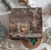 Подарки к праздникам handmade. Livemaster - original item A set of Christmas pendants rustic. Decoupage. Handmade.