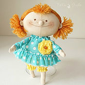 Stuffed Toys handmade. Livemaster - original item Doll Smile Little Doll textile. Handmade.