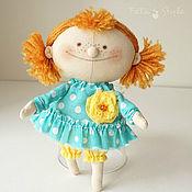 Мягкие игрушки ручной работы. Ярмарка Мастеров - ручная работа Рыжая Кукла текстильная маленькая. Handmade.