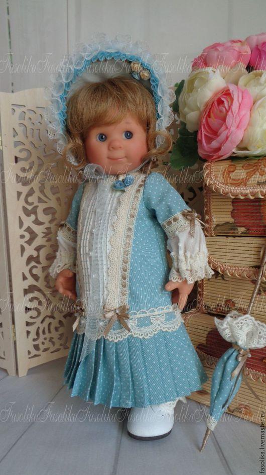 """Одежда для кукол ручной работы. Ярмарка Мастеров - ручная работа. Купить """"антикварка"""". Handmade. Голубой, панталоны, хлопок 100%, бжд"""