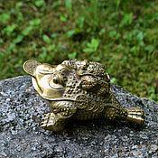 Фен-шуй и эзотерика ручной работы. Ярмарка Мастеров - ручная работа большая денежная трехлапая жаба лягушка символ фен-шуй. Handmade.