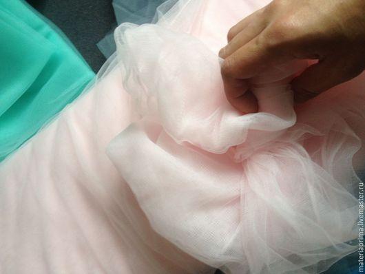 """Шитье ручной работы. Ярмарка Мастеров - ручная работа. Купить Фатин мягкий """"Бледно-розовый"""". Handmade. Фатин бледно-розовый"""