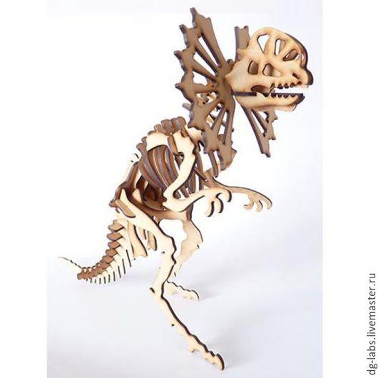 Развивающие игрушки ручной работы. Ярмарка Мастеров - ручная работа. Купить Конструктор 3D-пазл Дилофозавр. Handmade. Конструктор, подарок
