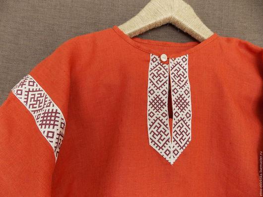 """Этническая одежда ручной работы. Ярмарка Мастеров - ручная работа. Купить Рубаха в русском стиле для мальчика"""" красная. Handmade."""
