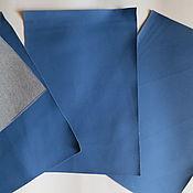Материалы для творчества ручной работы. Ярмарка Мастеров - ручная работа листы экокожи №204 синий. Handmade.