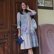 """Одежда ручной работы. Ярмарка Мастеров - ручная работа Шерстяное платье """"Зазеркалье"""", розовое офисное платье миди. Handmade."""