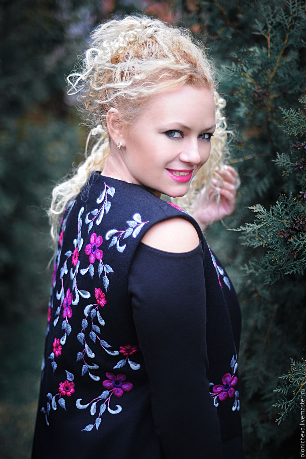 """Exclusive embroidered womens vest """"Ocean of flowers"""", Vests, Vinnitsa,  Фото №1"""