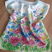 "Одежда ручной работы. Ярмарка Мастеров - ручная работа .Блуза батик ""Полянка"", шёлк атлас.. Handmade."