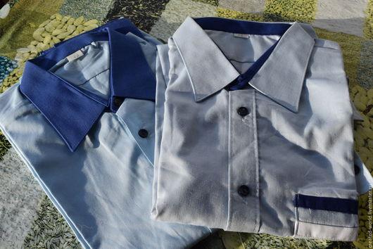 Одежда. Ярмарка Мастеров - ручная работа. Купить Мужские рубашки. Размеры 39 и 44. Handmade. Голубой, Мужская рубашка