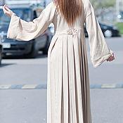 Платье-трансформер, Бежевое платье, Длинное платье KA0328CT
