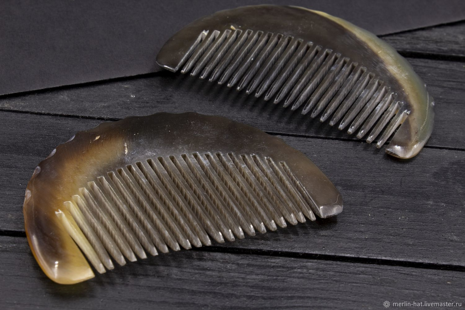 Comb from the horns of the Buffalo 'Crescent' 9 cm, Combs, Tambov,  Фото №1