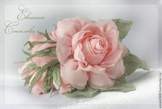 Диадемы, обручи ручной работы. Ярмарка Мастеров - ручная работа. Купить Ободок Розовые розы. Handmade. Бледно-розовый