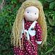 Вальдорфская игрушка ручной работы. Варенька, вальдорфская кукла 36 см.. Кукольная мастерская DollGarden. Ярмарка Мастеров. Вальдорфская игрушка