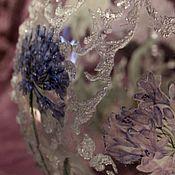 Для дома и интерьера ручной работы. Ярмарка Мастеров - ручная работа Ваза для цветов Ледяные узоры стекло с объемным узором. Handmade.