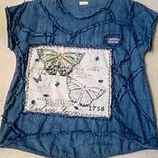 Одежда handmade. Livemaster - original item Blouse made of linen and La observe