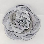 """Украшения ручной работы. Ярмарка Мастеров - ручная работа Цветы из ткани """"Роза шитая"""". Handmade."""