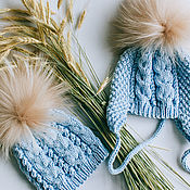 handmade. Livemaster - original item Baby hat handmade knitted cotton (available and custom). Handmade.
