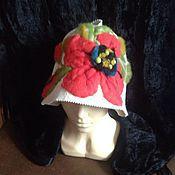 Для дома и интерьера ручной работы. Ярмарка Мастеров - ручная работа Банная шапка Мак. Handmade.