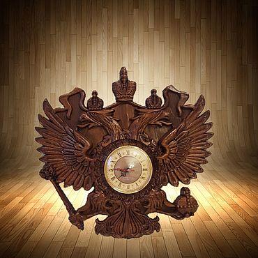 Для дома и интерьера ручной работы. Ярмарка Мастеров - ручная работа Часы панно на основании двух главого орла. Handmade.