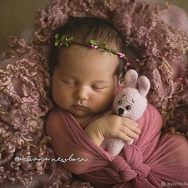 Украшения ручной работы. Ярмарка Мастеров - ручная работа Венок на голову для фотосессии новорожденных. Handmade.
