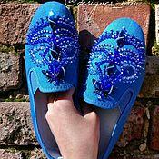 """Обувь ручной работы. Ярмарка Мастеров - ручная работа Дизайнерские испанские кеды """"Ночное сияние"""". Handmade."""