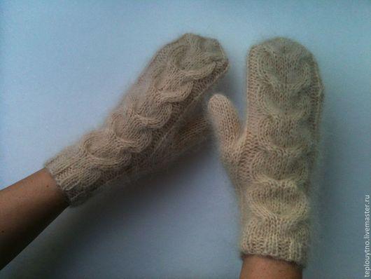 Мохеровые рукавички