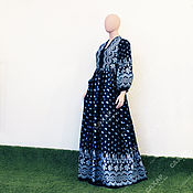 Одежда handmade. Livemaster - original item Long dress in the Russian style openwork cotton. Handmade.