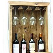 Для дома и интерьера ручной работы. Ярмарка Мастеров - ручная работа Витрина для вина. Handmade.