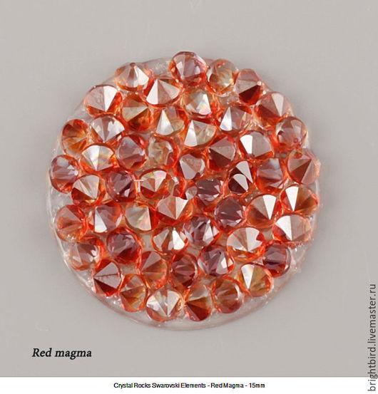 Для украшений ручной работы. Ярмарка Мастеров - ручная работа. Купить Crystal Rocks Red Magma Кристал Рокс. Handmade.
