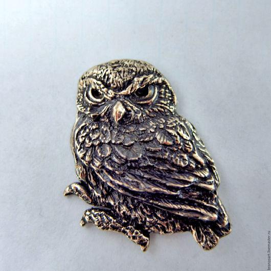 Магниты ручной работы. Ярмарка Мастеров - ручная работа. Купить Магнит сова бронзовая миниатюра филин талисман подарок сувенир. Handmade.
