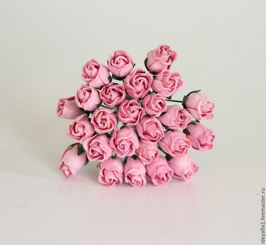 Открытки и скрапбукинг ручной работы. Ярмарка Мастеров - ручная работа. Купить Бутоны роз полураскрытые розовые, 5 шт.  Арт. 217122. Handmade.