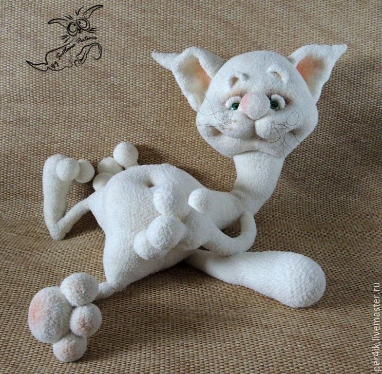 Кот крючком с описанием фото
