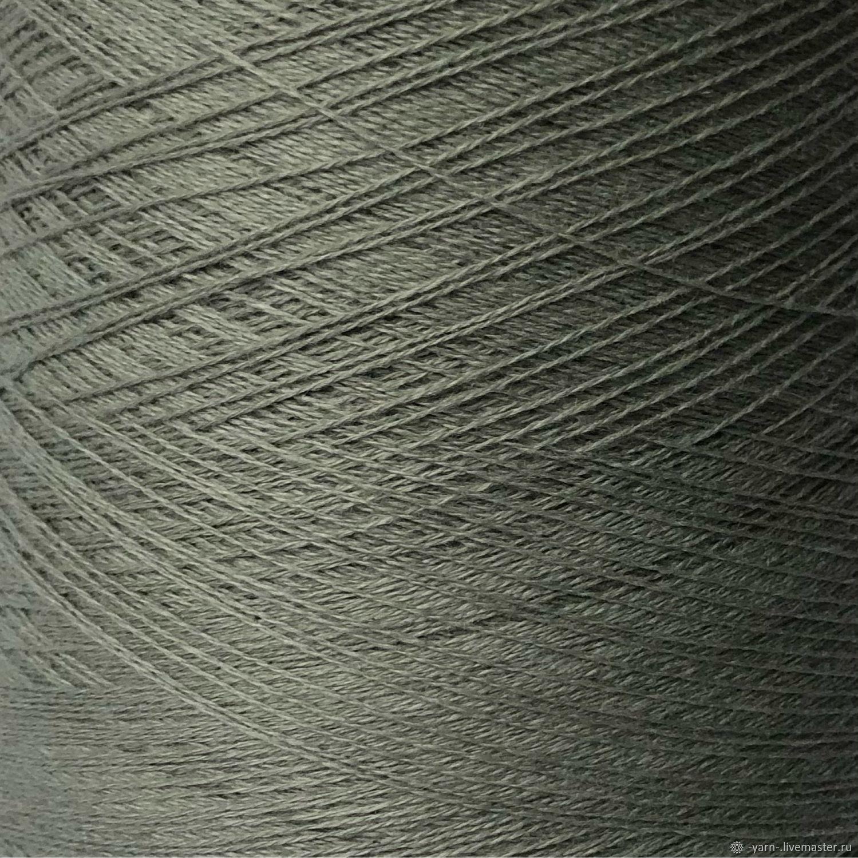 Пряжа Кашемир 2/28 серо-мятный – купить на Ярмарке Мастеров – NCCMSRU   Пряжа, Санкт-Петербург