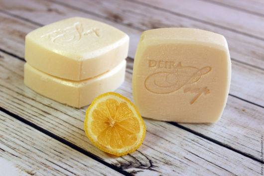 Лимонная свежесть хозяйственное мыло для стирки подарок маме,девушке,мужчине