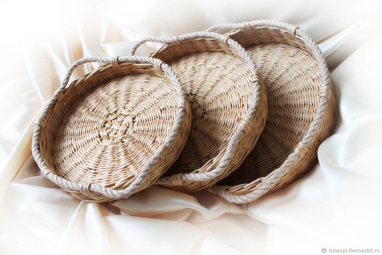 """Trays set """"Loza"""", wicker basket trays, Trays, Rybinsk,  Фото №1"""